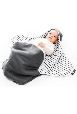 Otulacz Coco dwustronny - grey striped